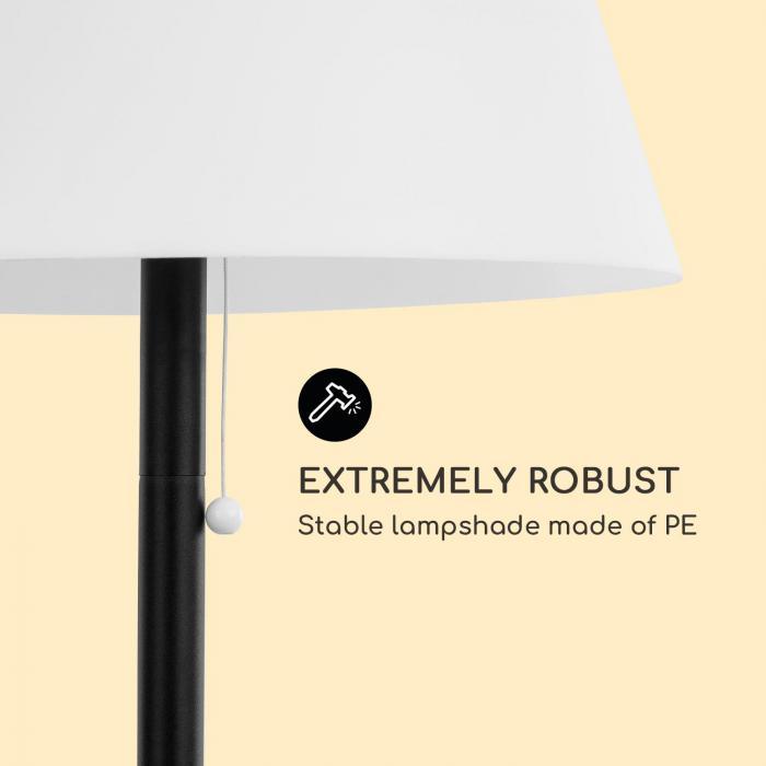 Moody Solar TT Lampe solarbetrieben IP65 PE-Lampenschirm