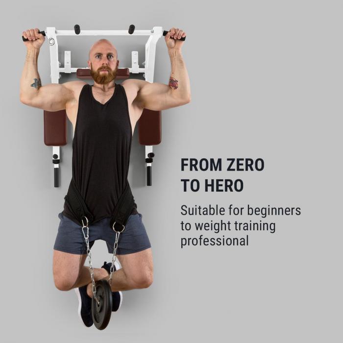 Bouncer MultiGym leuanveto- & dippilaite maalaite 200 kg teräs valkoinen