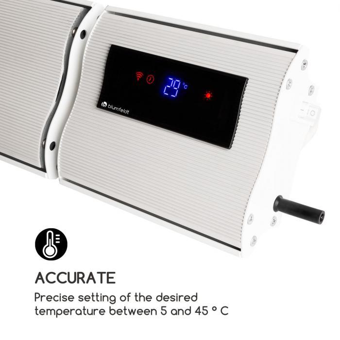 CosmicBeam Plus infrapunalämmitin 2400w IP44 kaukosäädin valkoinen