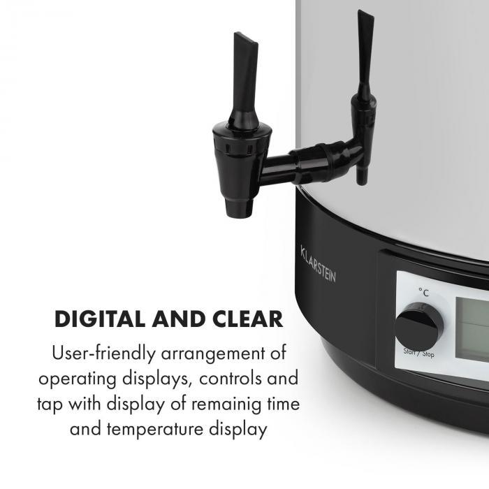 KonfiStar 50 Digital Automatic Preserving Cooker Beverage Dispenser 50L 100 ° C 180min