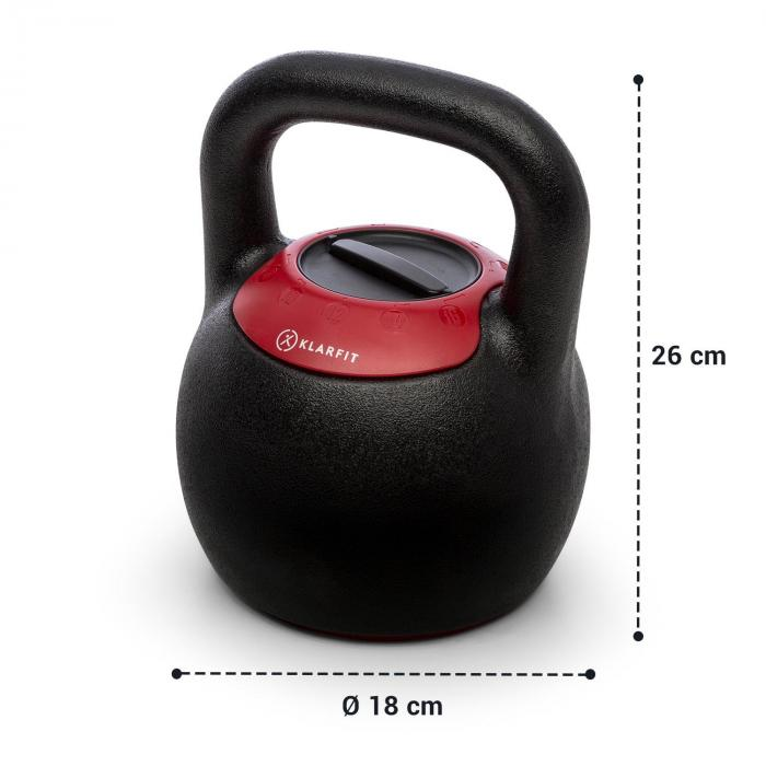 Adjustabell pesa rusa regulable peso: 8/10/12/14/16 kg negro/rojo