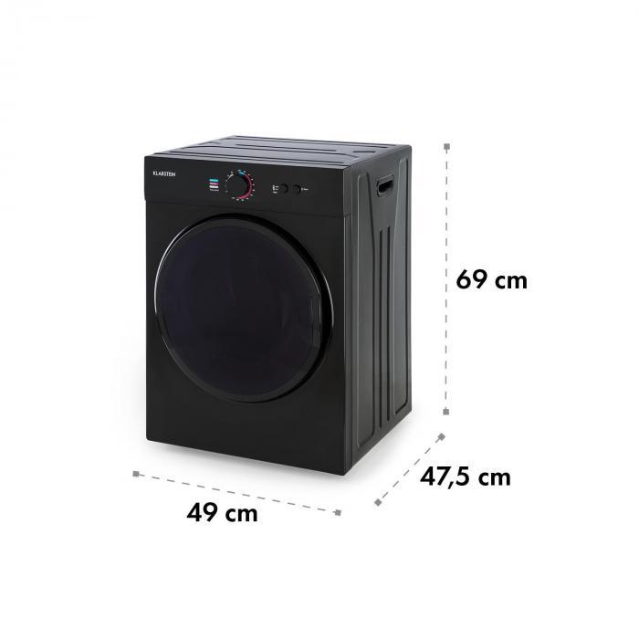 Jet Set kuivausrumpu kondensoiva 1020 W energiatehokkuusluokka C 3 kg 50 cm musta