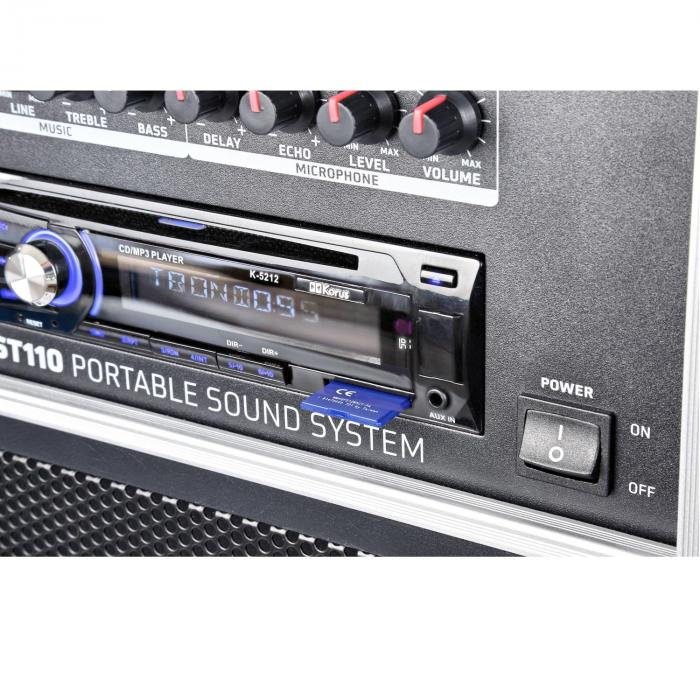 "ST110 mobile Impianto PA 20cm (8"") CD SD USB MP3"