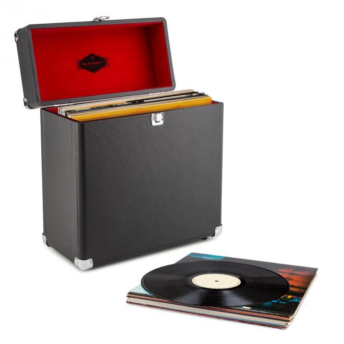 Peggy Sue Record Collector Set black Retro Plattenspieler Plattenkoffer