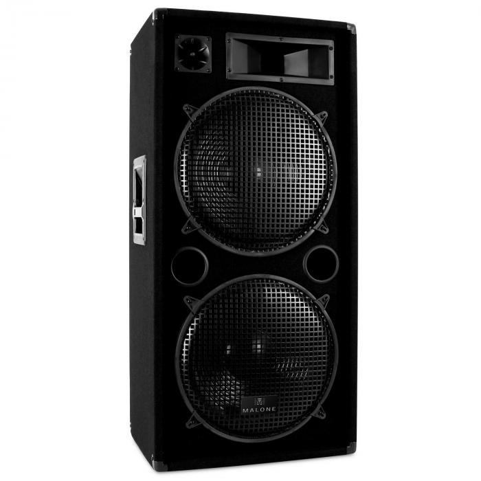 "Malone DJ ""Bass"" Club PA Sound System with Amplifier, Speakers & Cables"