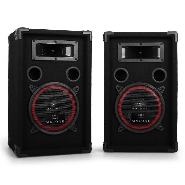 "Set DJ PA ""DJ-14"" 1000W amplificatore casse"