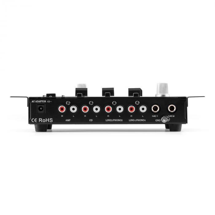Set Radiomicrofoni Con Mixer 3 Canali Nero