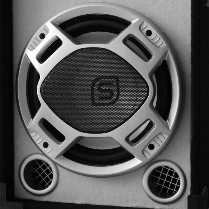 Skytec SPL700MP3 kit amplificatore con altoparlante bianco