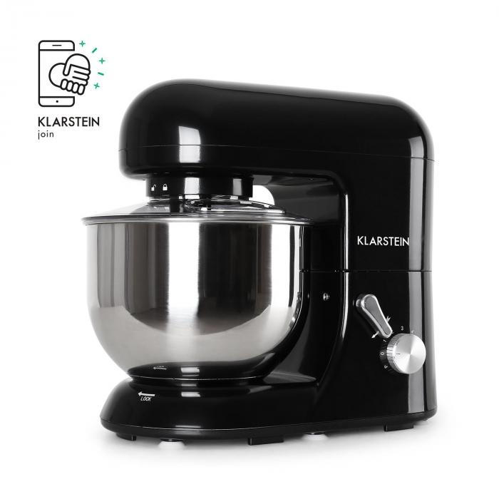 Bella Nera Kitchen Machine Stand Mixer 1200W 5 Litre Black
