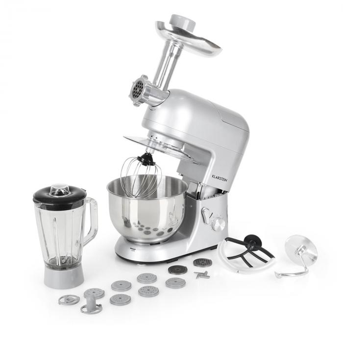 Lucia Argentea Stand Mixer Meat Mincer Mixer 1200W - Silver