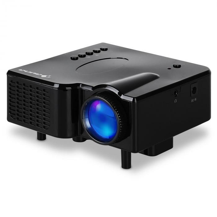 Projector LED Mini-Beamer VGA AV zwart