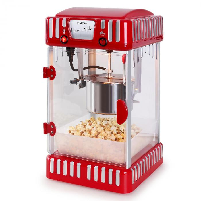 Volcano -popcorn-kone 300 W ruostumaton teräs