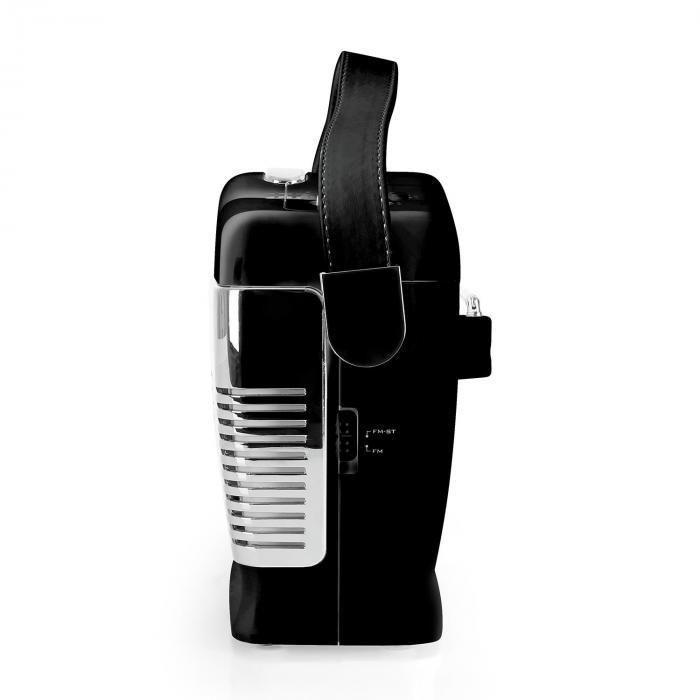 RCD-70 Retro Vintage Portable Radio FM CD/MP3 USB Battery - Black