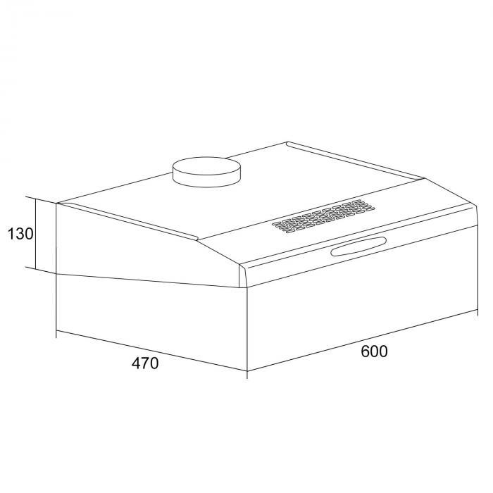 uw60sf dunstabzugshaube edelstahl 60 cm 190 m h abzug unterbau abluft led kochfeldbeleuchtung. Black Bedroom Furniture Sets. Home Design Ideas