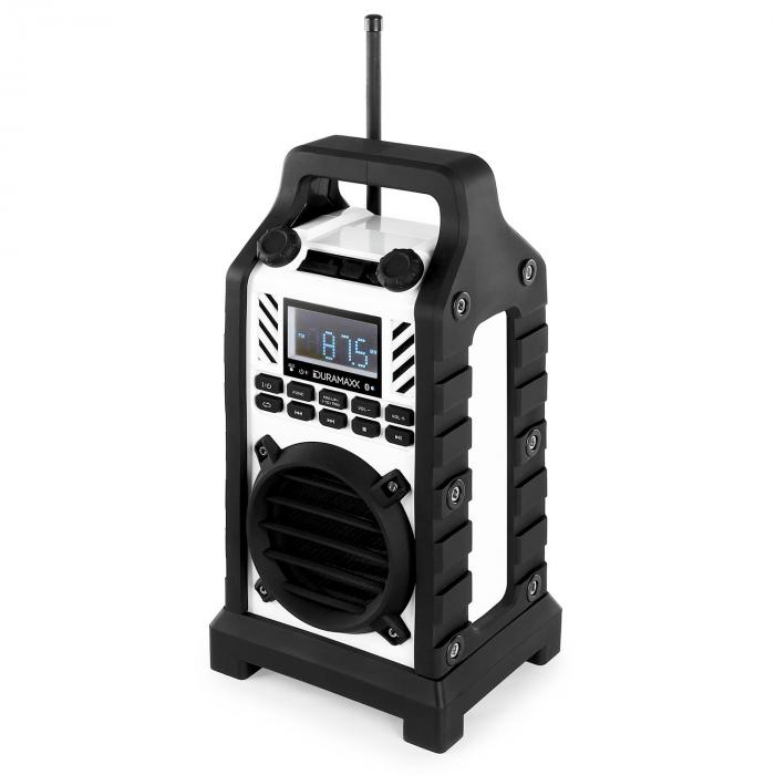 Duramaxx 862-BT-WH Radio cantiere batteria USB SD MP3 BT bianca