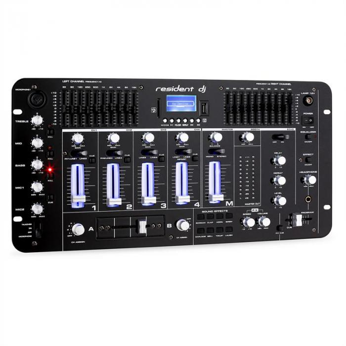 DJ PA Set Rack Star Neptun Palace Bluetooth 250 henkilöä