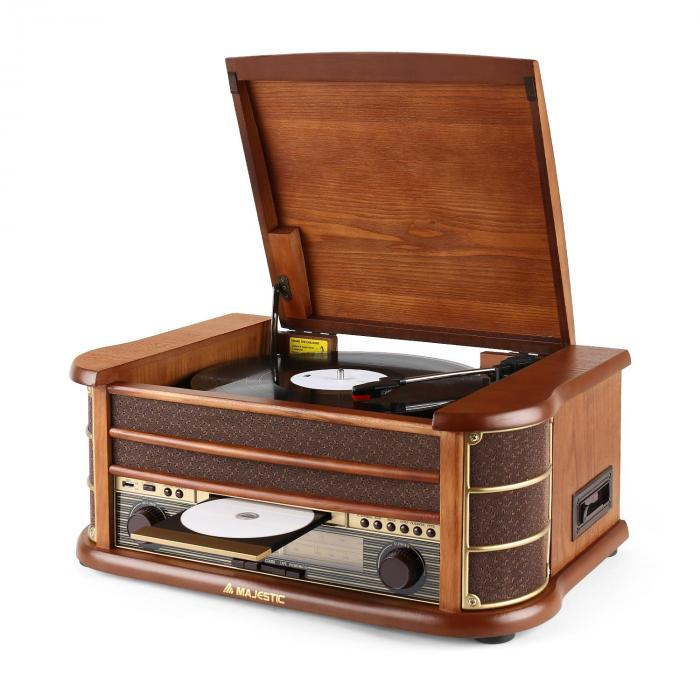 Audiola TT34 Impianto stereo retrò Vinyl TP CD