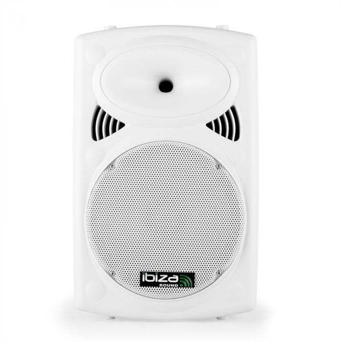 "Port12VHF-BT 30cm (12"") PA-kaiutin valkoinen USB SD AUX MP3 Bluetooth"