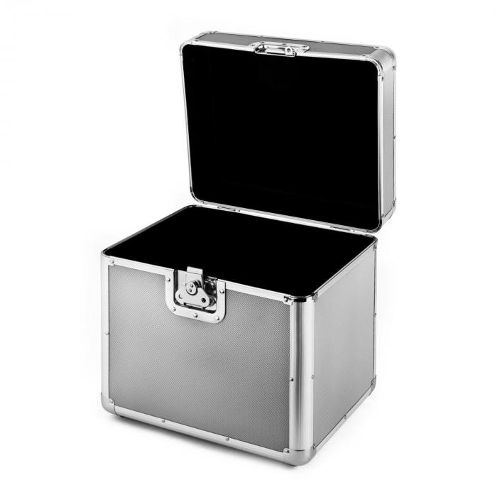 Time Capsule Aluminium LP Record Case 70 Silver