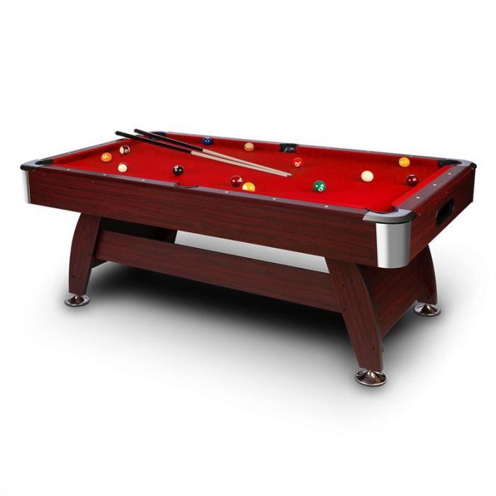 Brighton Tavolo da biliardo 7´ (122x82x214 cm) Set di accessori Legno