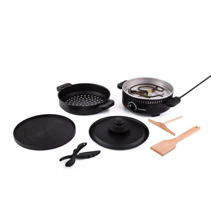 Schwyz 4 i 1 multifunktions-grill 800W grill crepe svart