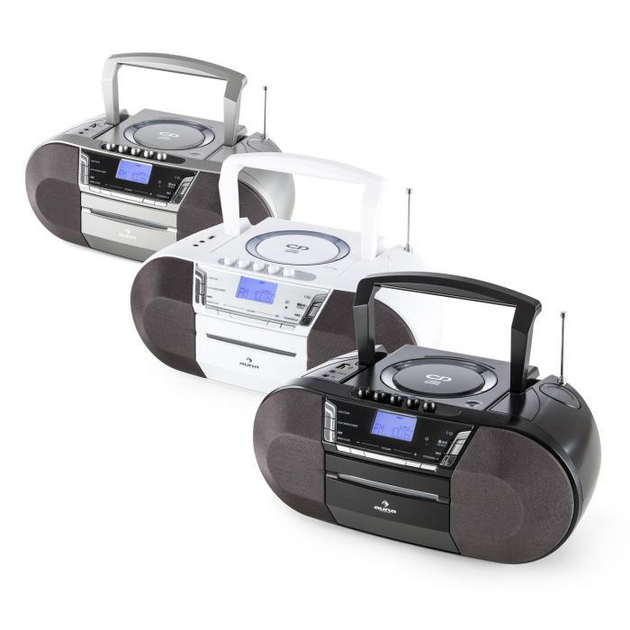Jetpack kannettava Boombox USB CD MP3 UKW patterikäyttöinen musta