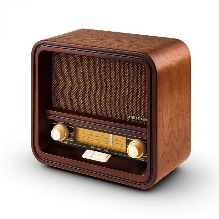 radio w stylu retro auna belle epoque 1901 fm am usb mp3 kup tanio. Black Bedroom Furniture Sets. Home Design Ideas