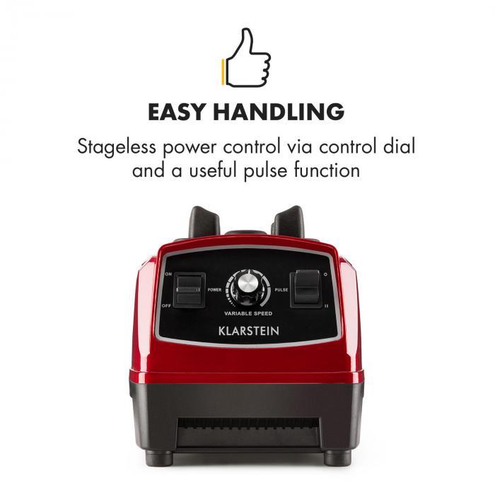 Herakles 2G frullatore per frullati frullatore da tavolo 1200 W rosso