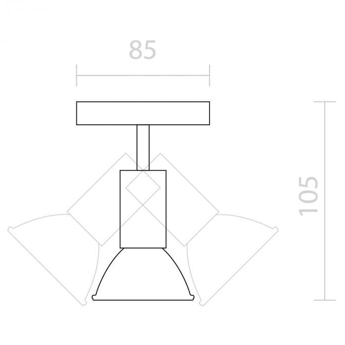 Kvalfoss 1 spot LED 3W 250lm draaibaar roterend chroom