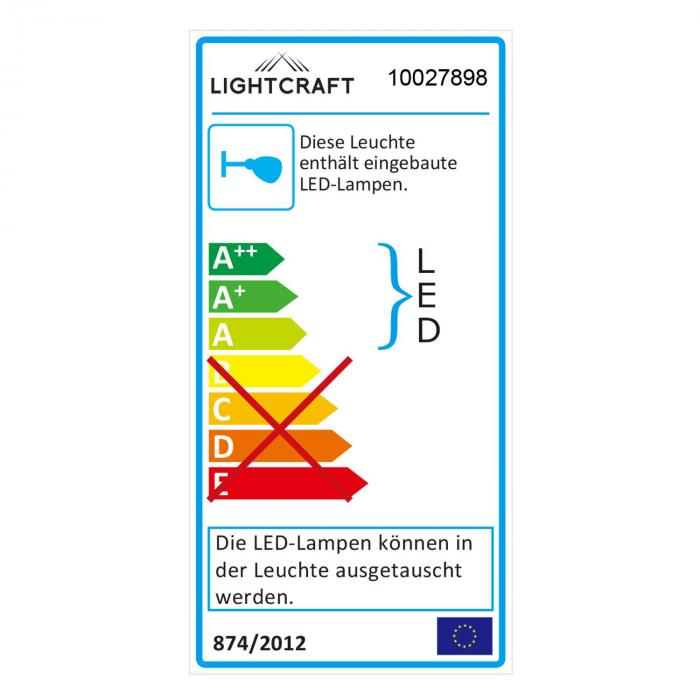 Vegard 4 Lampada Spot 4x LED 5W 400lm Girevole Cromata Vetro