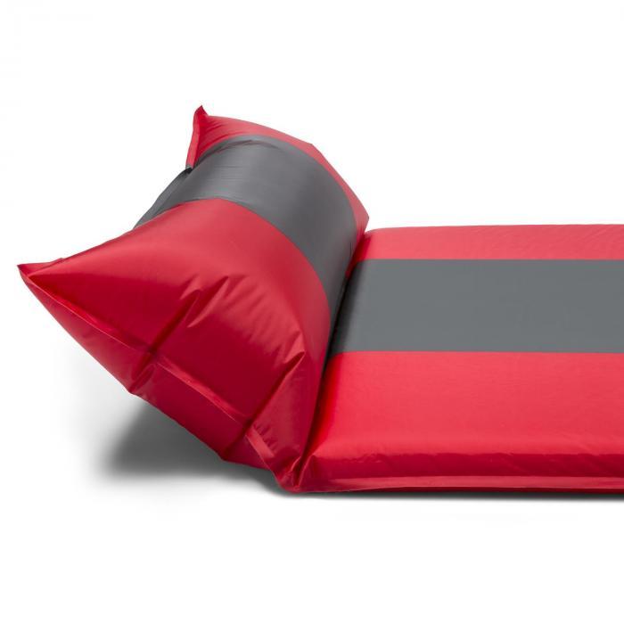 Goodsleep 7 slaapmat luchtbed 7cm dik zelfopblaasbaar rood-grijs