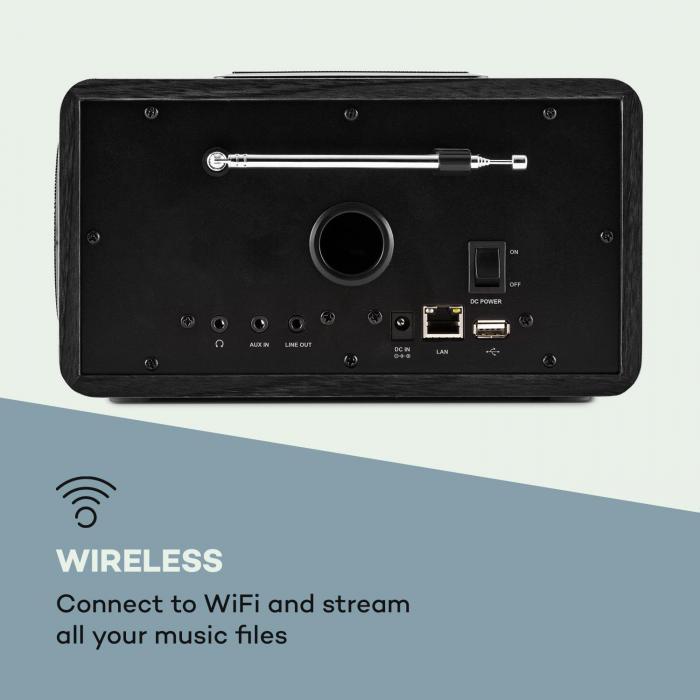 Connect 150 BK 2.1-internetradio mediasoitin WLAN LAN USB DAB+ FM