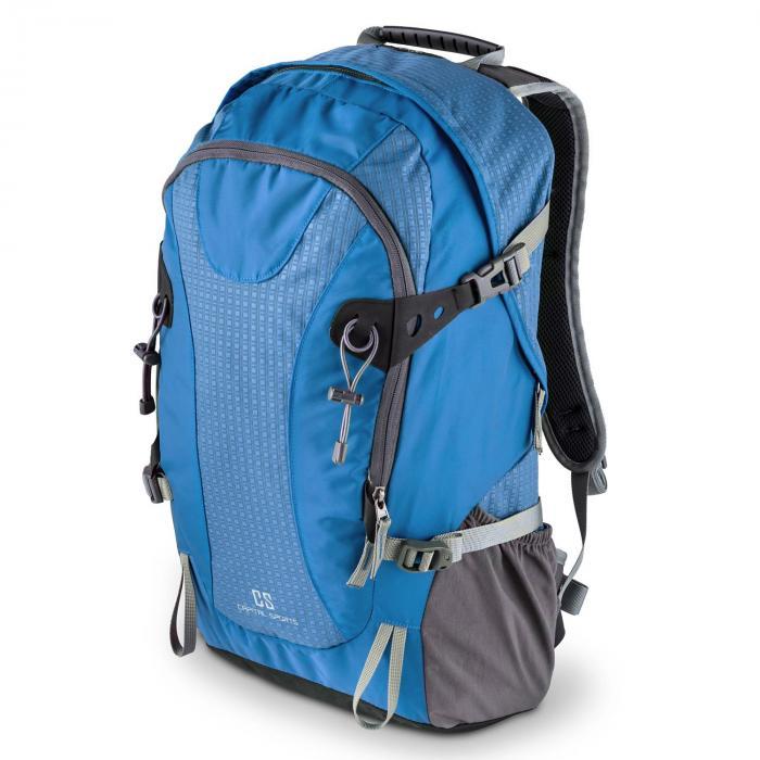 Ridig Zaino Sportivo 38 Litri Nylon Impermeabile Blu