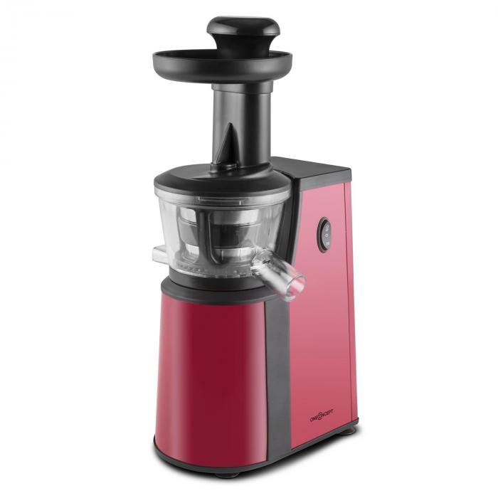 Jimmie Andrews SlowJuicer Entsafter 400W Edelstahl rot Rot ...