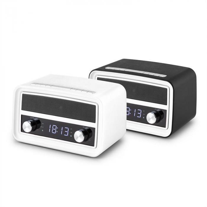 Caprice RD retro-radio herätyskello Bluetooth FM USB AUX valkoinen