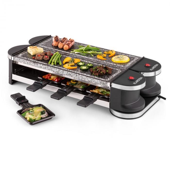 Tenderloin 100 Raclette-Grill 1200W 8 personer 2 x naturstensplatta