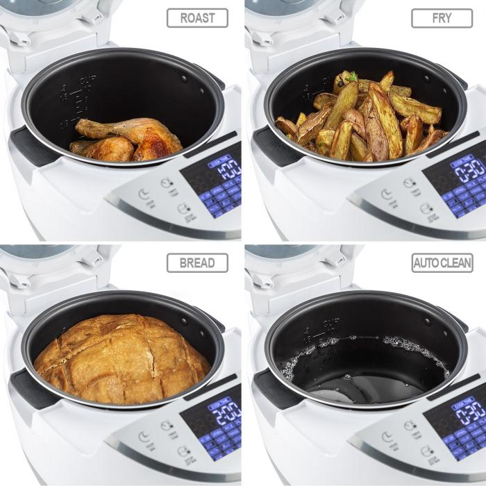 Hotpot Cuocivivande Multifunzione Multi Cooker 23 in 1 950W 5l Bianco