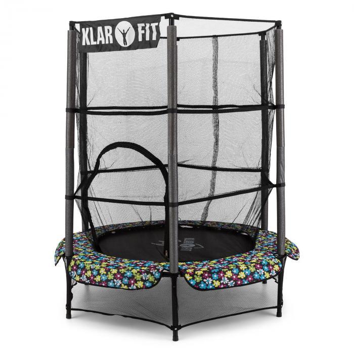 rocketkid 5 trampolin 140cm sicherheitsnetz bungeefederung blumenmuster online kaufen. Black Bedroom Furniture Sets. Home Design Ideas