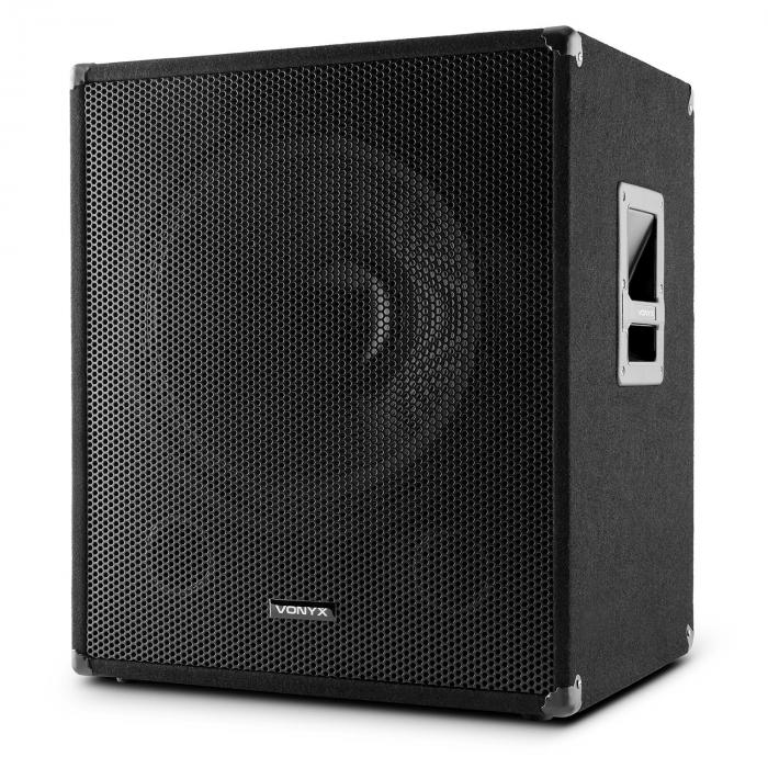 "SWA18 Active 18"" PA Subwoofer 46cm 500W Max."