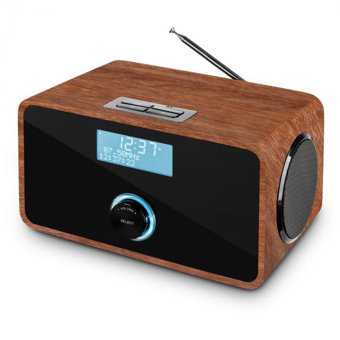 DABStep DAB/DAB+ Digitalradio Bluetooth UKW RDS Wecker Walnuss