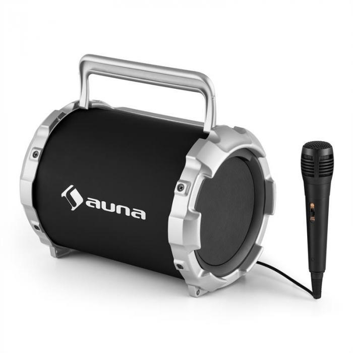 DR. Bang! Głośnik Bluetooth 2.1 USB SD AUX Akumulator z mikrofonem czarny