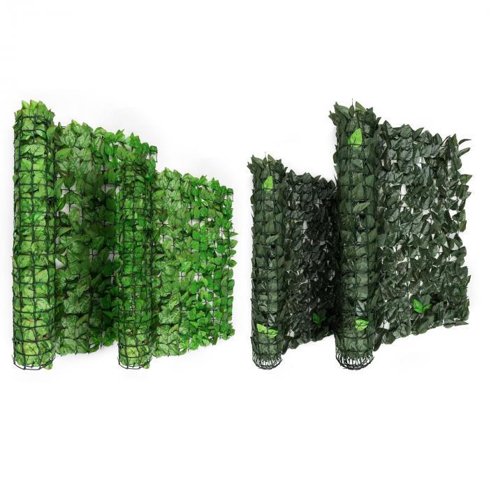 Fency Dark Leaf Clôture pare-vue Paravent 300x150 cm -mélange vert foncé