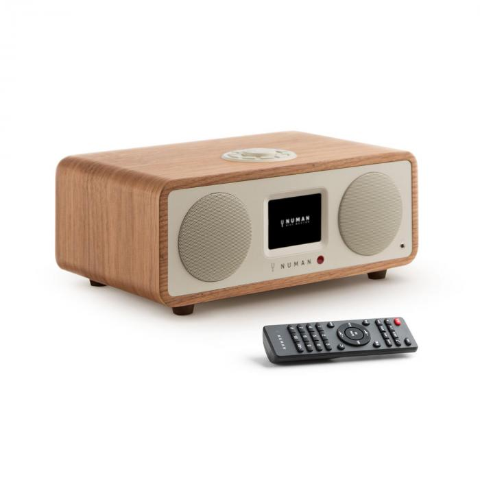 One – 2.1 design internetradio 20 W bluetooth Spotify Connect DAB+ pähkinä