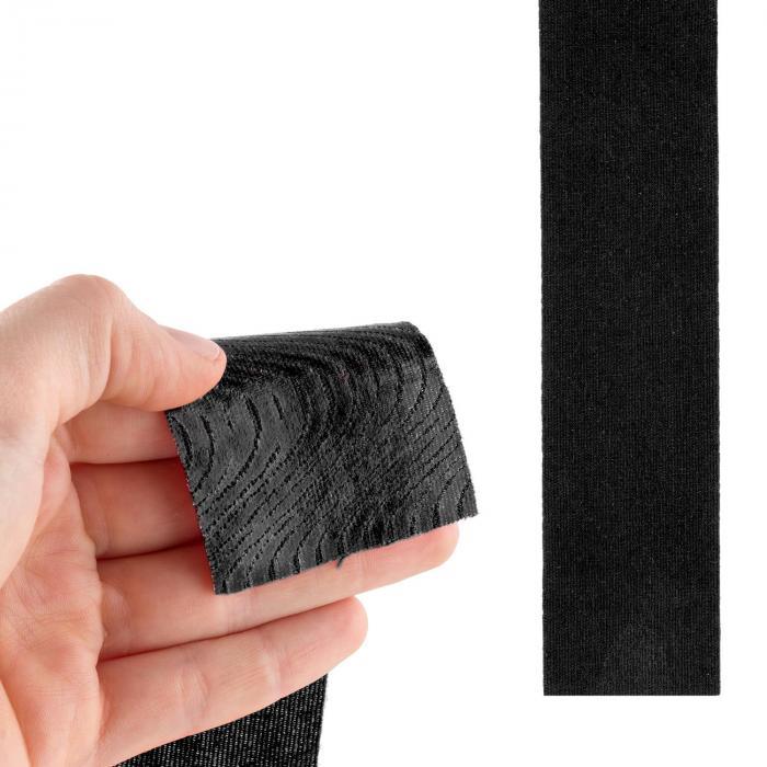 Bondies kinesioteippi urheiluteippi setti 6 rullaa joustava vedenkestävä 5 cm leveä 5 m pitkä musta