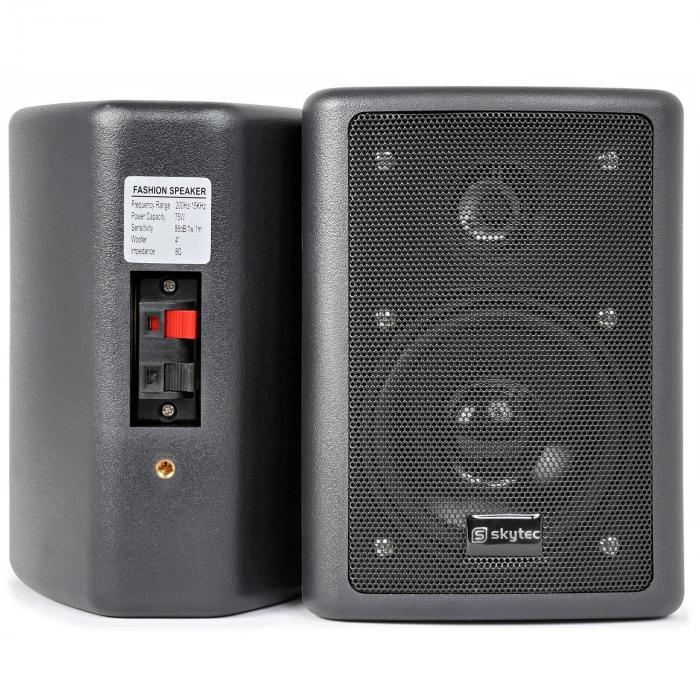 SPL 300 VHF PA Set Amplificatore 2 Altoparlanti Cavo Altoparlante nero