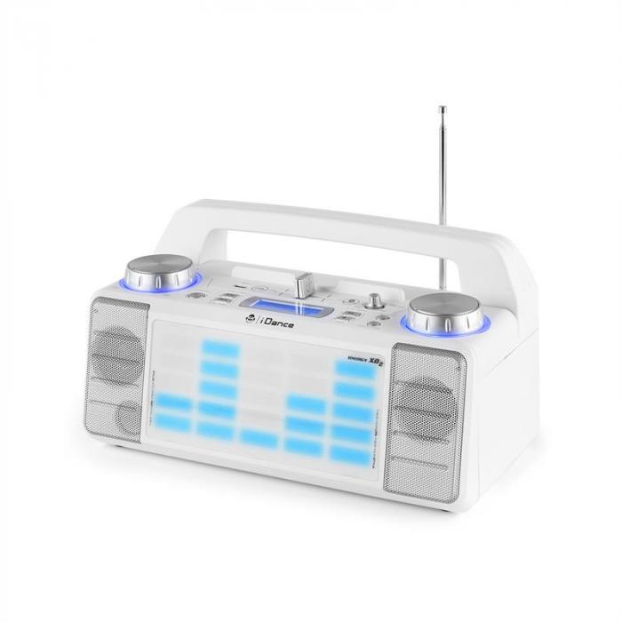 Energy XD2 Party-kaiutinjärjestelmä mikseri bluetooth USB AUX MP3 valkoinen