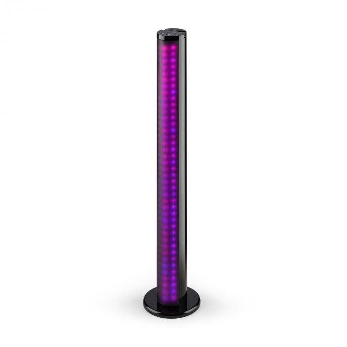 Light Up Tower Speaker40 W Bluetooth LED USB FM black