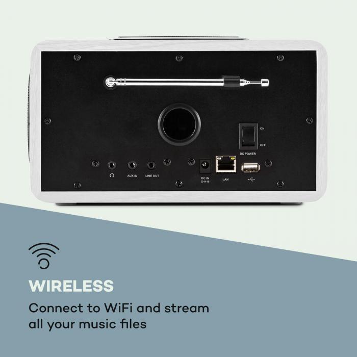 Connect 150 WH 2.1 Internet Radio Mediaplayer WLAN LAN USB DAB+ FM RDS AUX