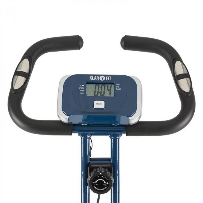 Azura CF X-Bike Home trainer fino a 100 kg Misuratore di pulsazioni Richiudibile 3 kg blu