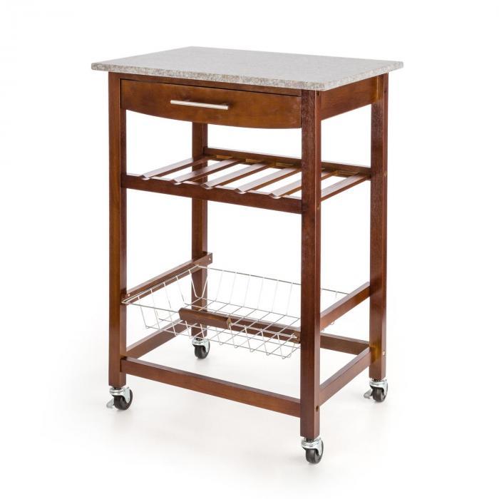 zimmerservice servierwagen k chenwagen weinregal granit platte braun online kaufen. Black Bedroom Furniture Sets. Home Design Ideas